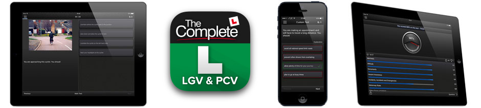 The Complete LGV & PCV Theory Test / CPC Test app for iOS and Android